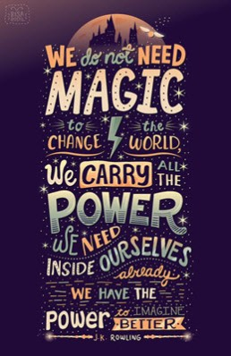 We don't need magic to change the world
